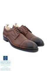 Обувь мужская HISTORIA Мужские туфли дерби с брогированием и фактурной кожей, тонированные