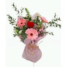 Магазин цветов Фурор Букет «Пылающее сердце»