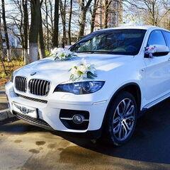 Прокат авто Прокат авто BMW X6 белого цвета