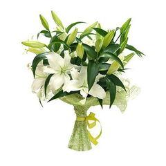 Магазин цветов Долина цветов Букет «Лилии белые»