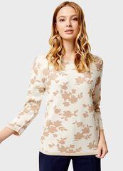 Кофта, блузка, футболка женская O'stin Джeмпер женский с цветочным жаккардом LK4U11-02