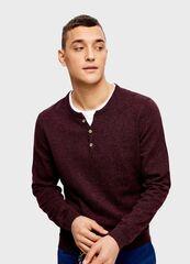 Кофта, рубашка, футболка мужская O'stin Джемпер с горловиной «хенли» MK4U12-R9