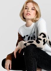 Кофта, блузка, футболка женская O'stin Жаккардовый женский джемпер LK1VA6-02