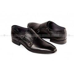 Обувь мужская Keyman Туфли мужские дабл монки черные