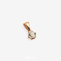 Ювелирный салон Белорусские Бриллианты Подвеска из золота со вставкой бриллиант синт. 41010008