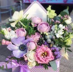 Магазин цветов Прекрасная садовница Цветочное послание с розой