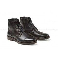Обувь мужская Keyman Ботинки мужские черные с декоративной прострочкой