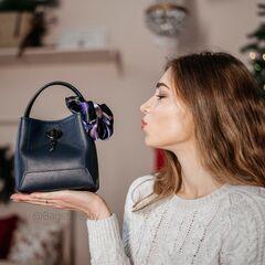 Магазин сумок Vezze Кожаная женская сумка C00409