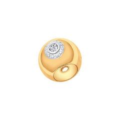 Ювелирный салон Sokolov Подвеска-шарм из золочёного серебра с фианитами 93030271