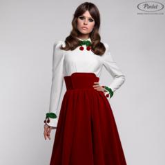Платье женское Pintel™ Комбинированное платье с длинным рукавом Chondona R