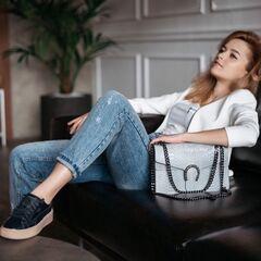 Магазин сумок Vezze Кожаная женская сумка C00480
