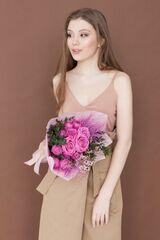 Магазин цветов ЦВЕТЫ и ШИПЫ. Розовая лавка Букет средний розовый (диаметр 25-30 см)