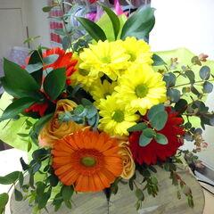Магазин цветов Прекрасная садовница Букет c герберами