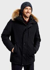 Верхняя одежда мужская O'stin Пуховая парка с натуральным мехом MJ6T97-99