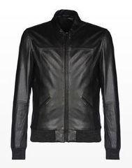 Верхняя одежда мужская Trussardi Кожаная куртка-бомбер мужская 52S09 _510070