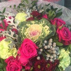 Магазин цветов Прекрасная садовница Букет с малиновыми нотками