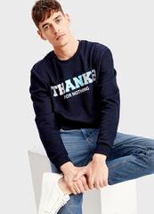 Кофта, рубашка, футболка мужская O'stin Джемпер с текстовым принтом MT5T31-69