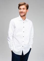 Кофта, рубашка, футболка мужская O'stin Рубашка мужская из хлопка Oxford MS4V43-00