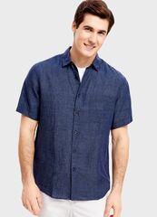 Кофта, рубашка, футболка мужская O'stin Рубашка изо льна MS1SA2-69