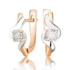 Ювелирный салон Jeweller Karat Серьги золотые с бриллиантами арт. 3224045/9