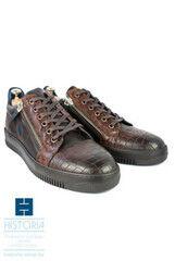 Обувь мужская HISTORIA Туфли мужсские, сникерсы с молниями коричневые