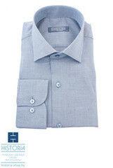 Кофта, рубашка, футболка мужская HISTORIA Рубашка с плетением из коричнево-голубых нитей
