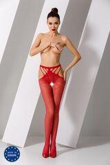 Интим-магазин Passion Красные эротичные колготки сетка S001-r