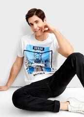 Кофта, рубашка, футболка мужская O'stin Футболка с фотопринтом MT4T35-00