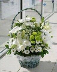 Магазин цветов Cvetok.by Цветочная корзина «Хрустальное сияние»