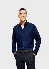 Кофта, рубашка, футболка мужская O'stin Рубашка из однотонного поплина MS6U11-68