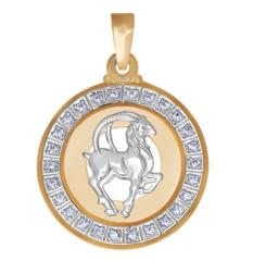 Ювелирный салон Sokolov Подвеска «Знак зодиака Козерог» c фианитами 032500