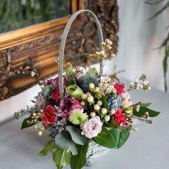 Магазин цветов Кошык кветак Букет - композиция в корзине №4