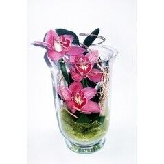 Магазин цветов Планета цветов Цветочная композиция в стекле №1