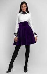 Платье женское Pintel™ Комбинированное платье из хлопка и бархата Chondona