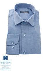 Кофта, рубашка, футболка мужская HISTORIA Рубашка голубая с плетением из двух цветных нитей