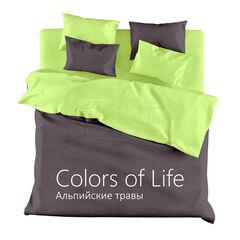 Подарок Голдтекс Сатиновое двухстороннее постельное бель «Color of Life» Альпийские Травы