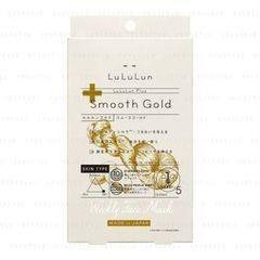 Уход за лицом LuLuLun Антивозрастная питательная маска с золотым шёлком Smooth Gold, 5 шт