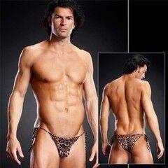 Интим-магазин Extaz Леопардовые мужские side-tie бикини
