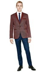 Пиджак, жакет, жилетка мужские HISTORIA Пиджак мужской бордо в тонкую полоску H01