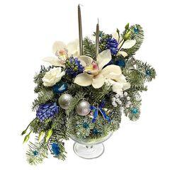 Магазин цветов Долина цветов Новогодняя ваза