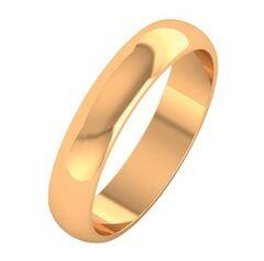 Ювелирный салон ZORKA Кольцо обручальное из розового золота 104006