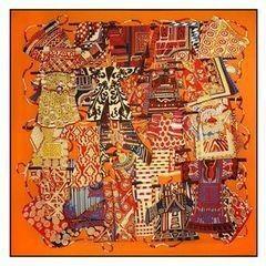 Подарок Schopfer & Shaposhnikoff Платок шелковый «Этна», оранжевый