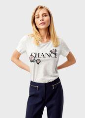 Кофта, блузка, футболка женская O'stin Футболка с розами LT4T3D-92