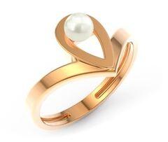 Ювелирный салон ZORKA Кольцо из розового золота с жемчугом 210492-CD