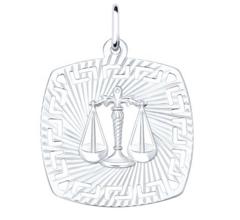Ювелирный салон Sokolov Подвеска «Знак зодиака Весы» из серебра 94030864