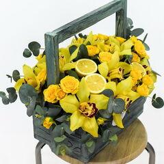 Магазин цветов Долина цветов Цветочная композиция «Весеннее настроение»