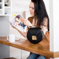 Магазин сумок Vezze Кожаная женская сумка C00455