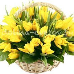 """Магазин цветов Долина цветов Корзина с цветами """"Корзина счастья"""""""