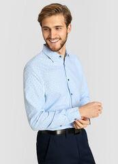 Кофта, рубашка, футболка мужская O'stin Принтованная рубашка из хлопка Oxford MS4W13-61