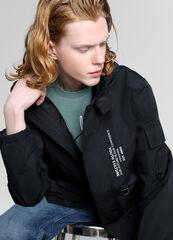 Верхняя одежда мужская O'stin Куртка с капюшоном и принтом MJ6W7C-99